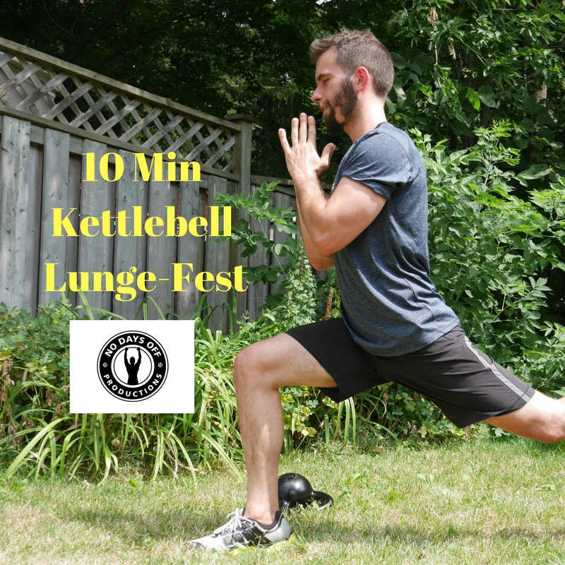 10 Min Kettlebell Lunge Session for strong Legs